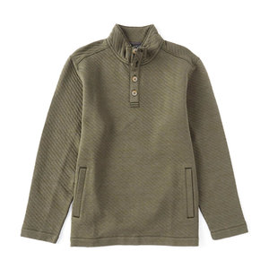 Tommy Bahama Quilted Crest Button Mock Pullover
