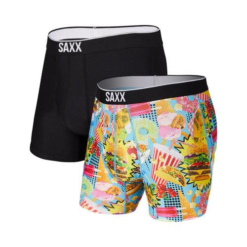 SAXX Volt 2 Pack - Junk Food Fight/Black