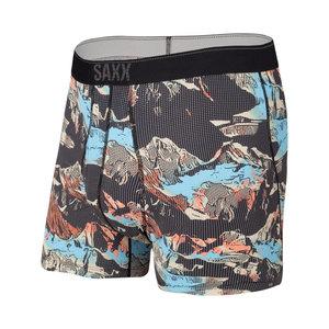 SAXX Quest Boxer Brief - Black Mountainscape