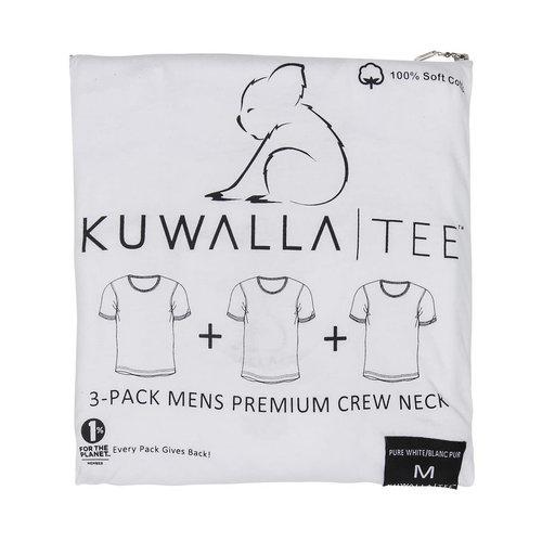 Kuwalla-tee Crew Neck 3 Pack - Pure White
