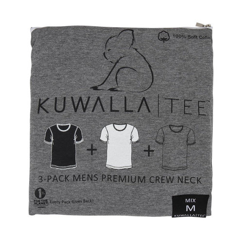 Kuwalla-tee Crew Neck 3 Pack - Mix
