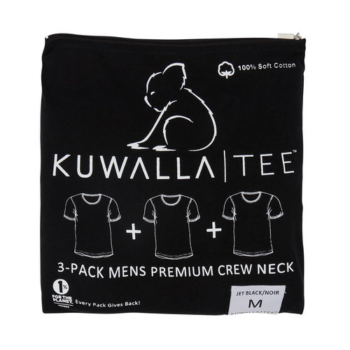Kuwalla-tee Crew Neck 3 Pack - Jet Black