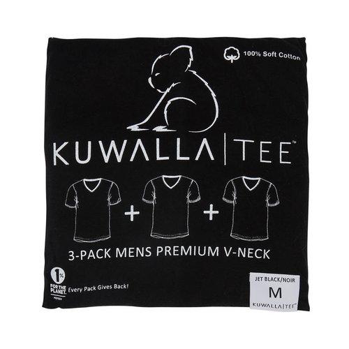 Kuwalla-tee V Neck 3 Pack - Jet Black