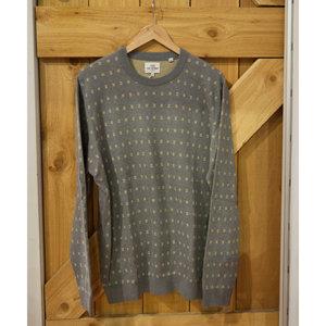 Ben Sherman Geo Pattern Crew Sweater