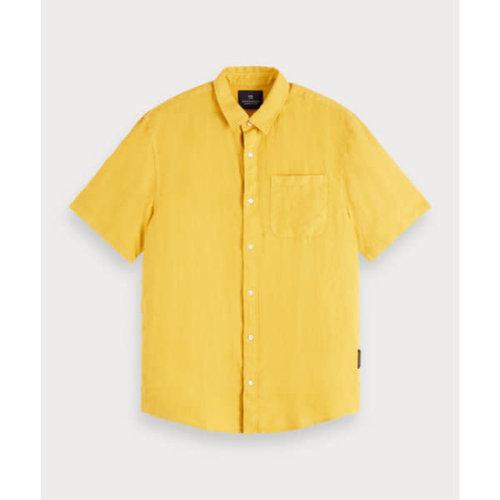 Scotch & Soda Garment Dyed Linen S/S Shirt