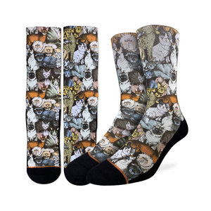Good Luck Sock Social Cats Socks