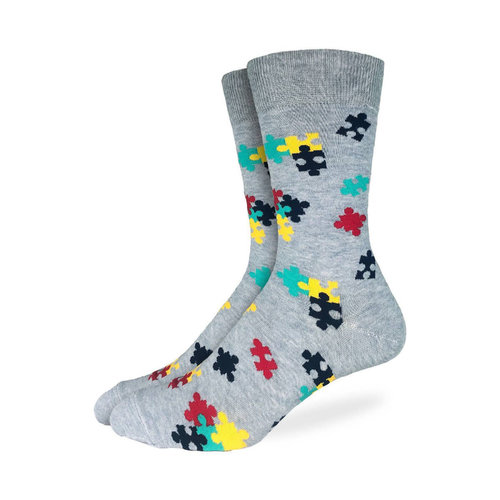 Good Luck Sock Puzzle Pieces Socks