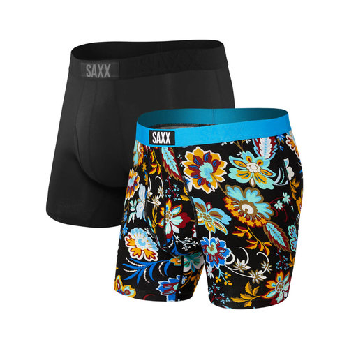 SAXX Ultra 2 Pack - Heritage Floral/Black