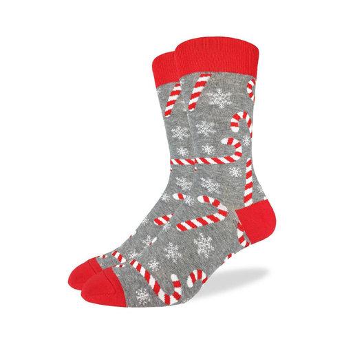 Good Luck Sock Candy Canes Christmas Socks
