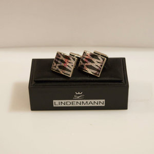 Lindenmann Patterned Square Cufflinks