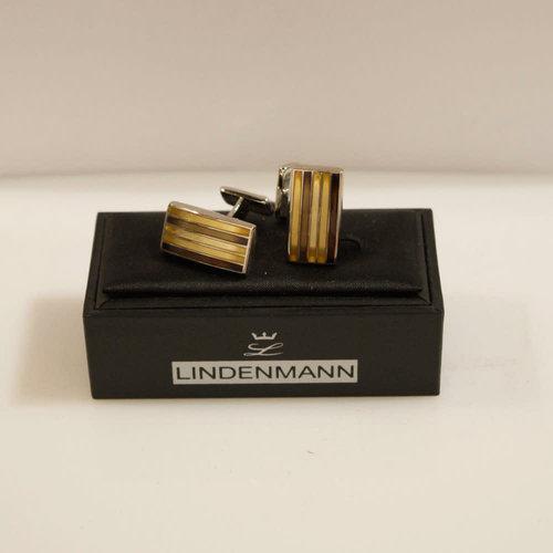 Lindenmann Striped Rectangle Cufflinks