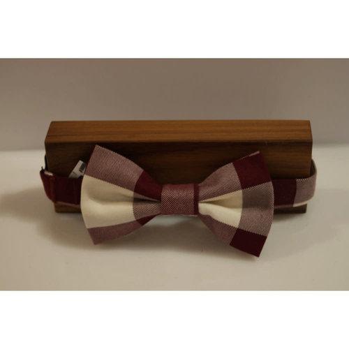 Beaux Linen Check Pre-Tie Bow Tie
