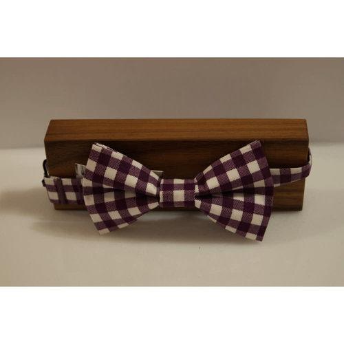 Beaux Gingham Pre-Tie Bow Tie