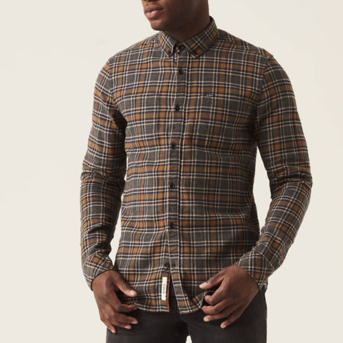 Garcia Flannel 100% Cotton Plaid Shirt