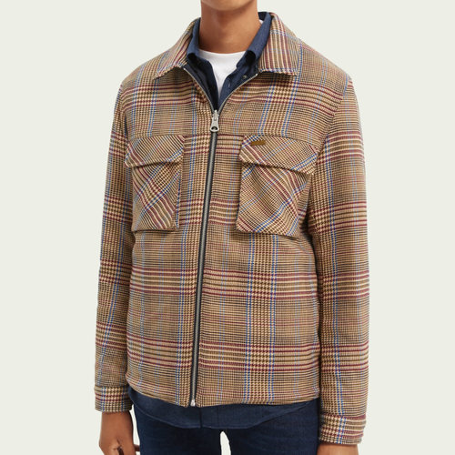 Scotch & Soda Reversible Quilted Houndstooth Jacket