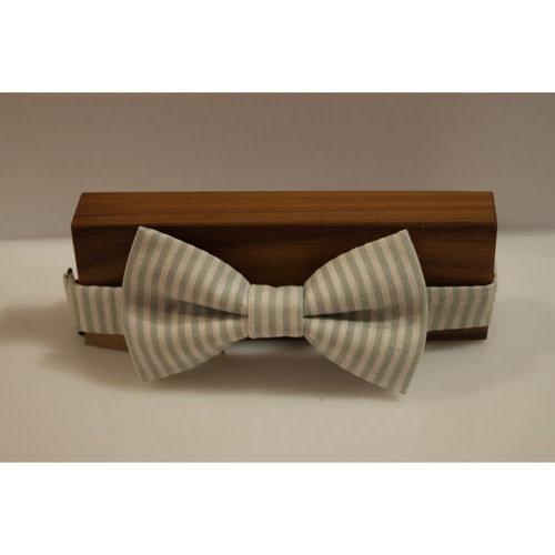 Beaux Sage Stripe Pre-Tied Bow Tie