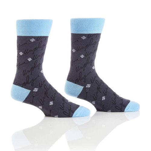 Yo Sox Unplug Crew Socks