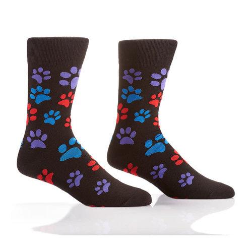 Yo Sox Paw Prints Crew Socks