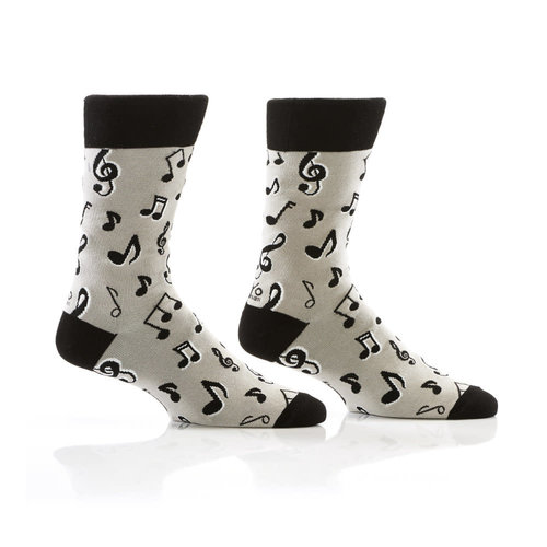 Yo Sox Music Note Crew Socks