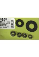 K25-C - CD52, D48, D9, D35 qty 2 Shimano Bantam Curado and Bantam Citica Super Tune Kit Ceramic Hybrid Spool Bearings Carbon Drags