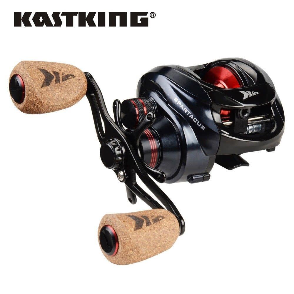 New - KastKing Spartacus Plus Baitcasting Reel Freshwater Baitcaster right hand cork grip