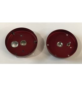Abu Garcia 5138 plus 10878 Abu Garcia Red 1970's era side plate set - G78