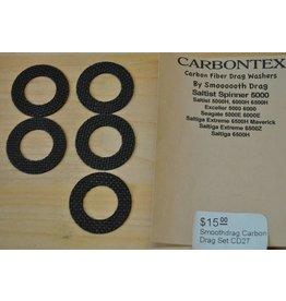 Daiwa CD27 - Daiwa Saltist 5000 Spinner Smoothdrag Carbon Drag Set