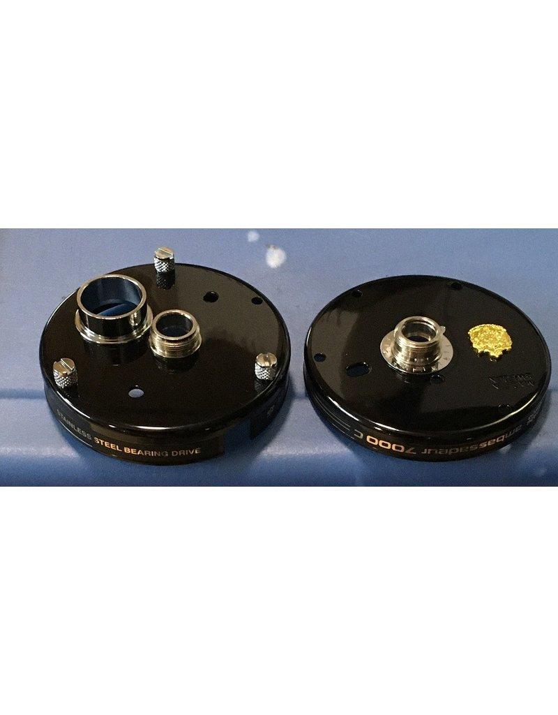 Abu Garcia 23561 23565 Black anodized Aluminum Ambassadeur 7000c Side Plate Set