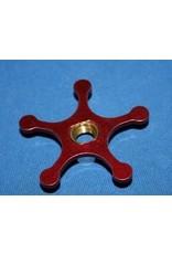 Abu Garcia Abu Garcia Ambassadeur Red Aluminum Star Wheel with Chrome Shield