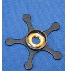 Abu Garcia 20949 - Ambassadeur Aluminum Star Wheel with Chrome Shield