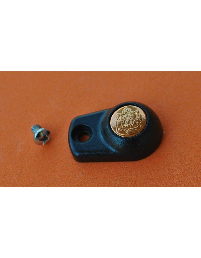 Abu Garcia 1160954 + 25230 Abu Garcia Ambassadeur Black Handle Nut Cover Plate With Screw