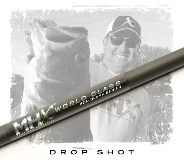 MHX NEW DS822 MHX -Blend Drop Shot Rod Blank 6'10"
