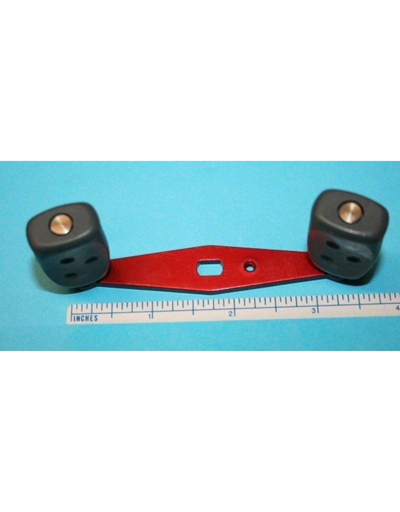 Abu Garcia 25231 - Abu Garcia Ambassadeur 5000, 6000 Red Aluminum Handle Dark Gray Grips