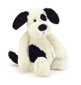 Jellycat Jellycat Bashful Black & Cream Puppy Medium 12""