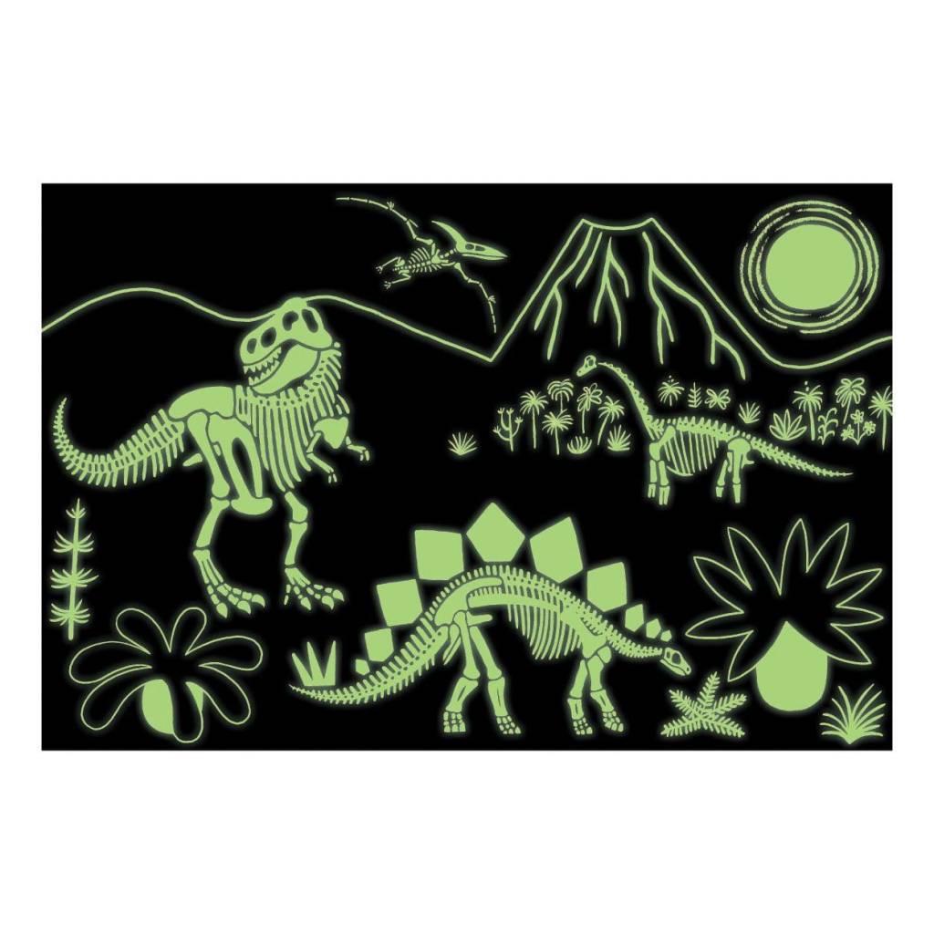 Mudpuppy Dinosaur Glow In The Dark 100pc Puzzle