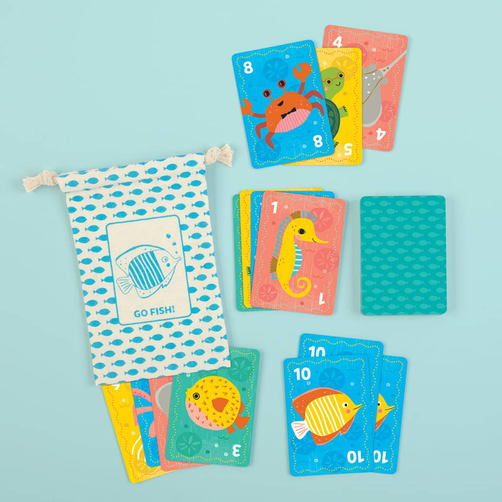 Mudpuppy Go Fish! Playing Cards To Go