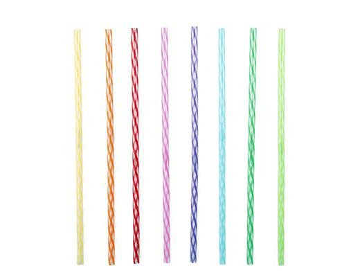 Kikkerland Designs Rainbow Reusable Straw - 11""