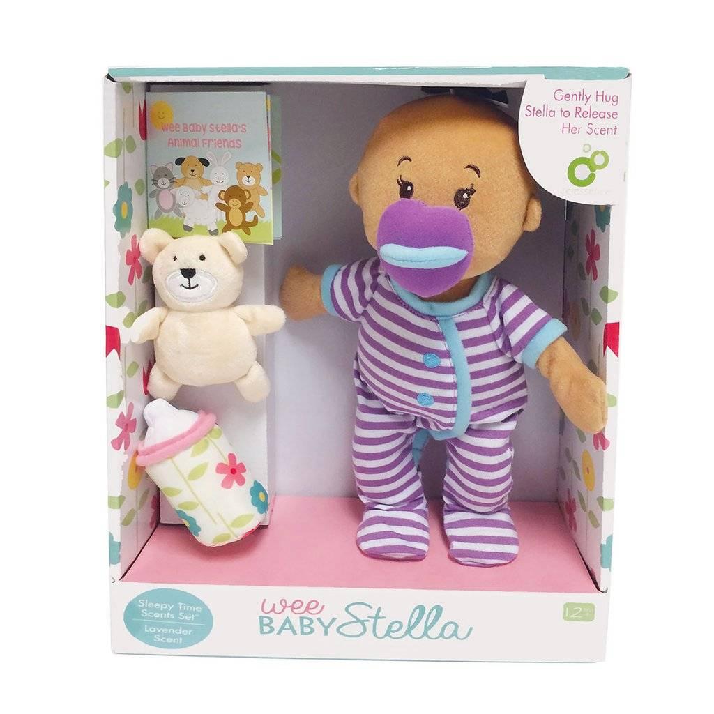 Manhattan Toy Wee Baby Stella Doll Beige Sleep Time Scents Set