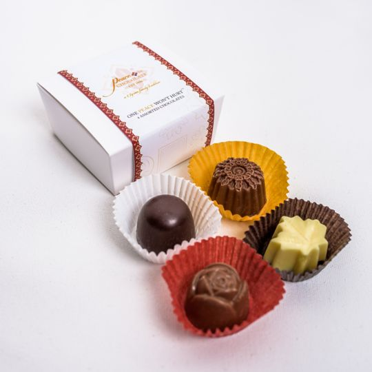 Peace By Chocolate Assorted Chocolates 4 Pack