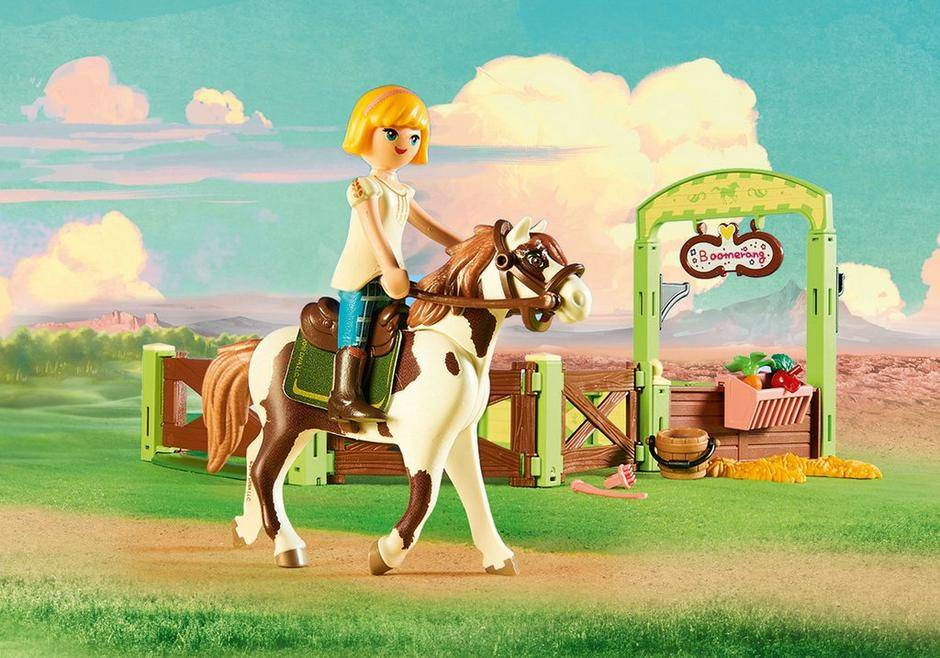 Playmobil Playmobil Spirit Abigail & Boomerang with Horse Stall