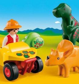 Playmobil Playmobil 1 2 3 Explorer with Dinos