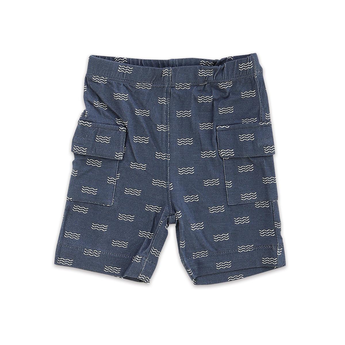 Silkberry Baby Bamboo Cargo Pocket Shorts Wave
