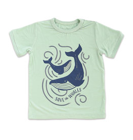 Silkberry Baby Bamboo Short Sleeve Tee Sea Mist