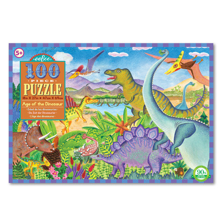 EeBoo eeBoo Age of the Dinosaur 100 PC Puzzle