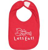 "Pip + Daisy Lobster Baby Bib ""Lets Eat!"""