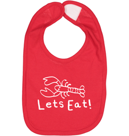 "Pip + Daisy Lobster Baby Bib ""Lets Eat!"""