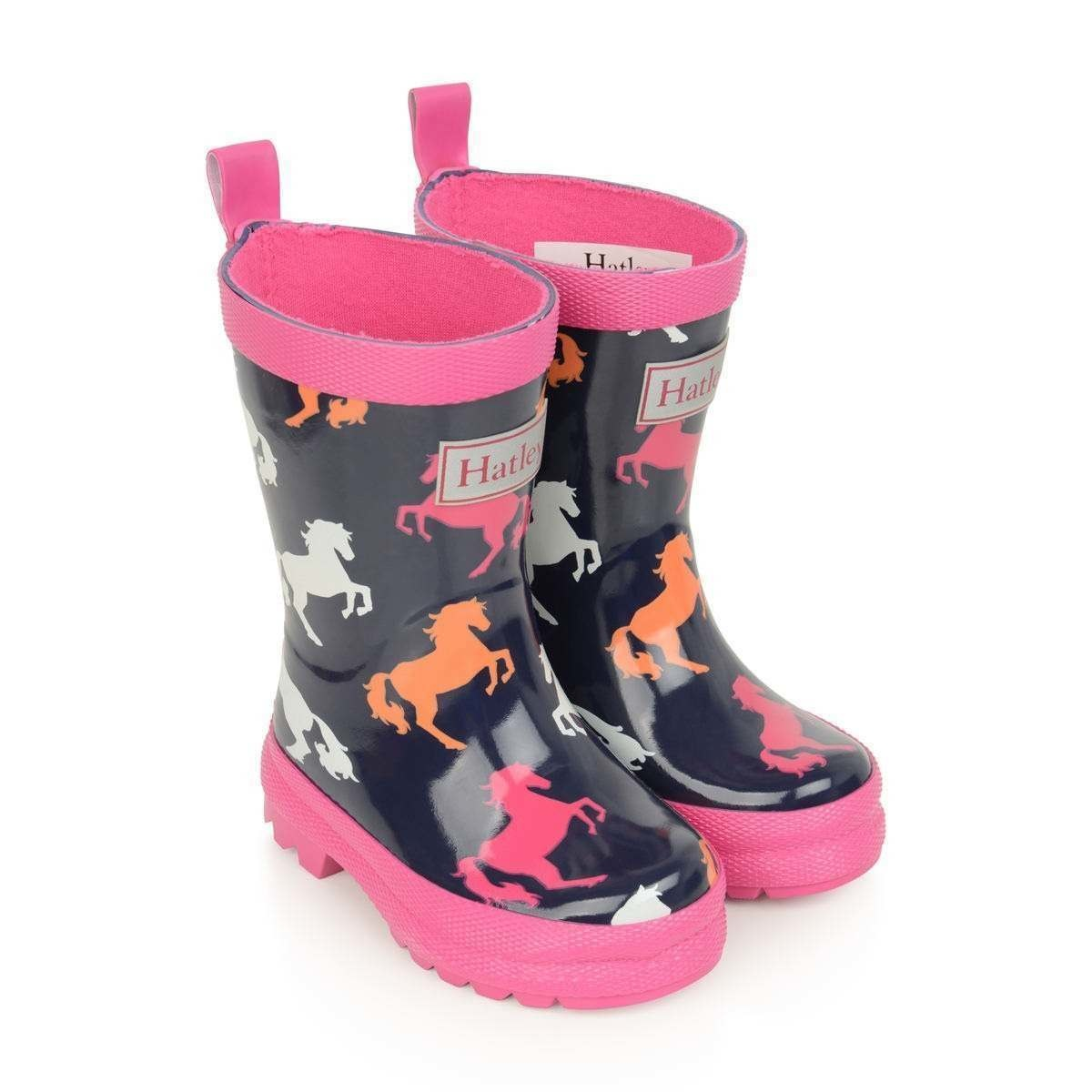 Hatley Hatley Playful Horses Shiny Rain Boots