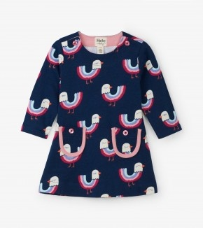 Hatley Hatley Rainbow Birds Mod Dress