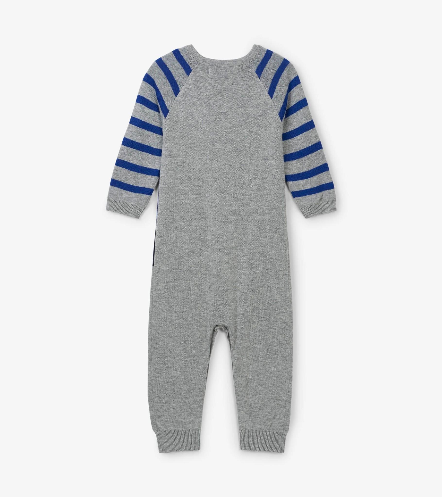 Hatley Hatley Blue Moose Baby Sweater Romper
