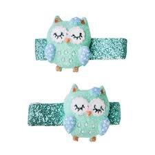 Great Pretenders Sleepy Owl Hair Clips
